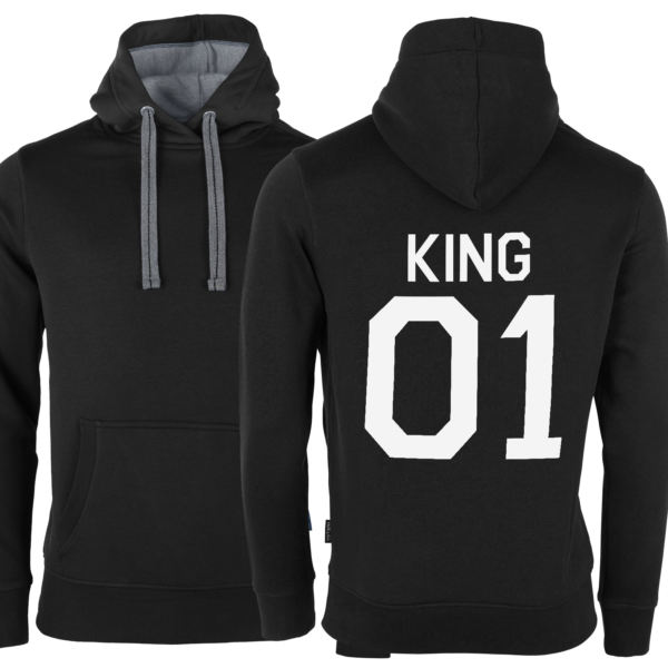 King Queen Pärchen Set 2 Hoodies
