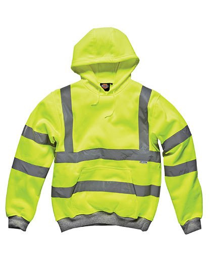 High Visibility Safety Hooded Sweatshirt